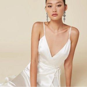 Reformation Alexandria Dress Ivory Silk